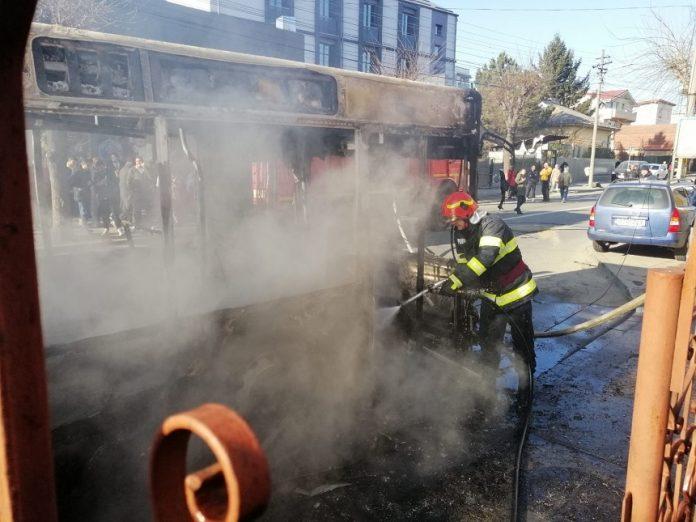 incendiu autobuz constanta