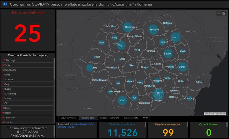 Harta Interactivă A Coronavirusului In Romania Situația In Timp