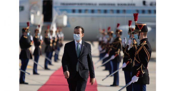 prim ministru Ludovic Orban soseste in Franta, guvernul Romaniei