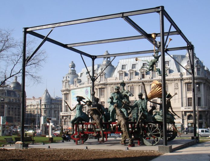 Sculpture National Theater Bucharest, Wikipedia