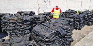 Rubber waste from Britain arrives in Constanta, politia de frontiera