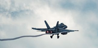File photo of Canadian CF-188. courtesy of Royal Canadian Air Force